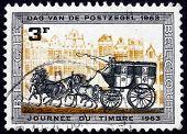 Postage Stamp Belgium 1963 Stagecoach