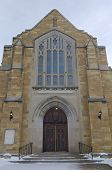 Historic Church Entrance Of West Side Saint Paul