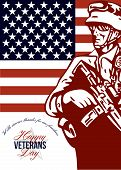 Veterans Day Modern American Soldier Card