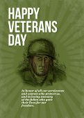 World War Two Veterans Day Soldier Card Sketch