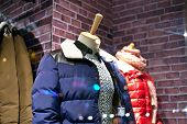 mannequin displaying the latest trend with  coats