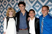 LOS ANGELES - JAN 13:  Claudia Lee, Connor Buckley, Kevin Hernandez, Tyler Foden at the FOX TCA Wint