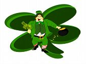 leprechaun large clover background