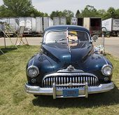 1947 Black Buick Eight Car Front View