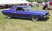 1970 Purple Dodge Challenger Side View