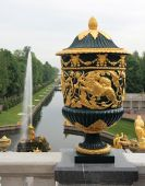 The Vase And Sampson Fountain, Grand Cascade, Peterhof