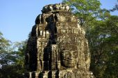 Details of a tower faces of Bayon temple at Angkor