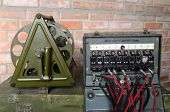 KIEV, UKRAINE -NOV 3: Vintage Soviet military field telephone commutator  during historical military