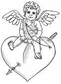 Angel Sitting On Heart