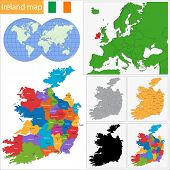Map of administrative divisions of Ireland