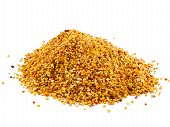 pic of pollen  - Healthy natural medicine for influenza- bee pollen.