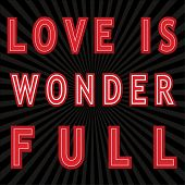 Love is Wonder Full - Play on words Decal