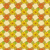 Flower Net Pattern on Light Background