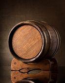 Old brown barrel