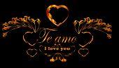 Te amo, Valentine frame