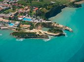 Aerial view on Sidari in Corfu Kerkyra Greece