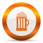 beer computer icon on white background