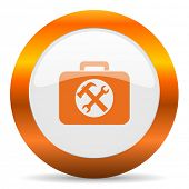toolkit computer icon on white background
