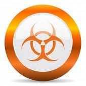 biohazard computer icon on white background
