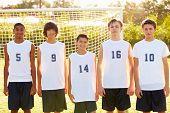 Members Of Male High School Soccer Team