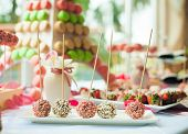 assortment of sweets. Cake pops