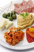 homemade assortment of appetizers, antipasto platter,hors d�¢�?�?oeuvres