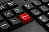 Keyboard - Red key Inspire business Concepts And Ideas