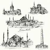 Iistanbul - Hagia Sofia - hand drawn collection