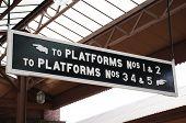 Train platforms sign, Birmingham.