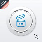 After opening use 6 months sign icon.