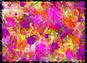Amok On Canvas Pink Purple
