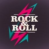 stock photo of rebel  - Rock and roll background design - JPG