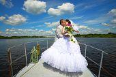 Wedding.Honeymoon trip  on the yacht.