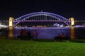 Vivid Sydney - Sydney Harbour Bridge In Colour At Night