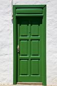 Spain  Piece Of Colorated  Door In Lanzarote