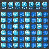 Ice game and levels buttons