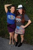 LOS ANGELES - JUN 18:  Alicia Arden, Phoebe Price at the Private LA Football League Summer Suite fea