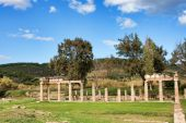 stock photo of artemis  - Remains of the Sanctuary of Artemis at Vravrona in Greece - JPG