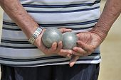 Man Playing Jeu De Boules