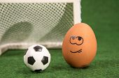 funny egg and football.