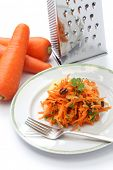 stock photo of rape  - grated carrot salad - JPG