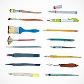 Drawing tools icons sketch