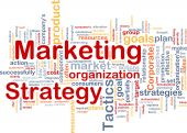 stock photo of market segmentation  - Word cloud concept illustration of marketing strategy - JPG