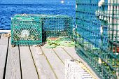 foto of lobster trap  - Lobster traps - JPG