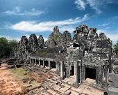 Bayon khmer temple on Angkor Wat historical place in Cambodia