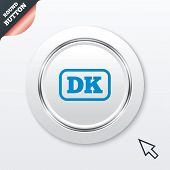 Denmark language sign icon. DK translation.