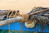 rope on fishing ship. Sr Lanka.