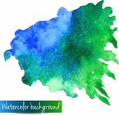 Abstract hand drawn watercolor vector background