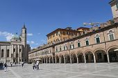 Ascoli Piceno, Italy - June 02, 2014: The Gothic-style Church Of San Francesco (begun In 1258). The