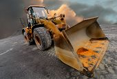 image of excavator  - Image of a quarry Loader  - JPG